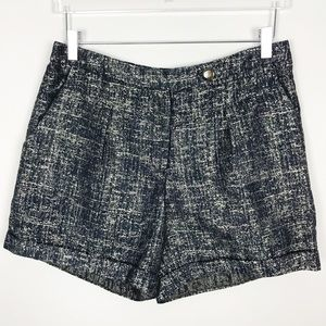 Anthropologie Conquille Shimmering Street Shorts